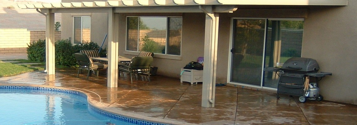 ELITEWOOD PATIO COVER – COLOR CONCRETE